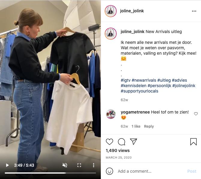 Instagram post Joline Jolink