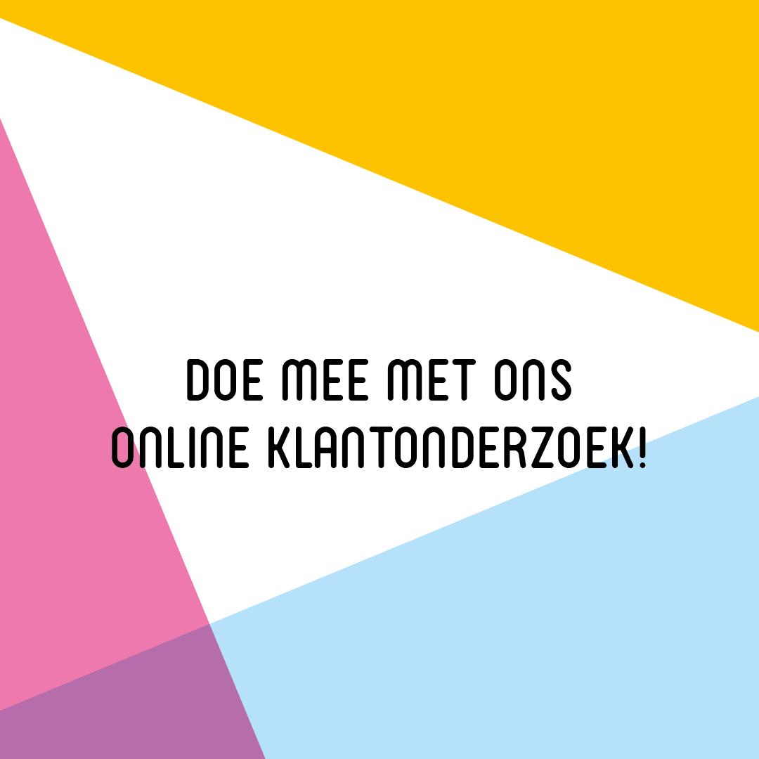 Klantonderzoek. Mail naar communicatie@cultuur-ondernemen.nl