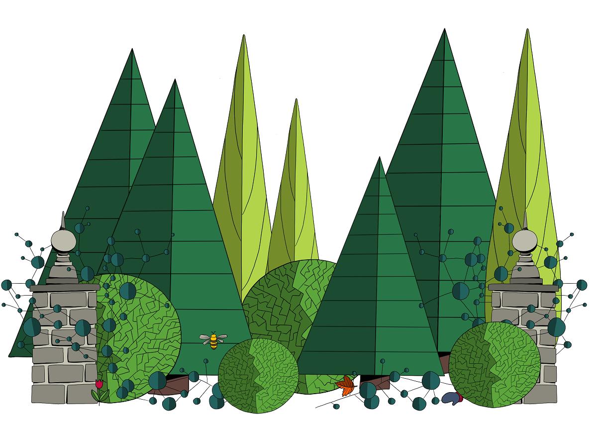 Plaatje Rug trees park plus seasons