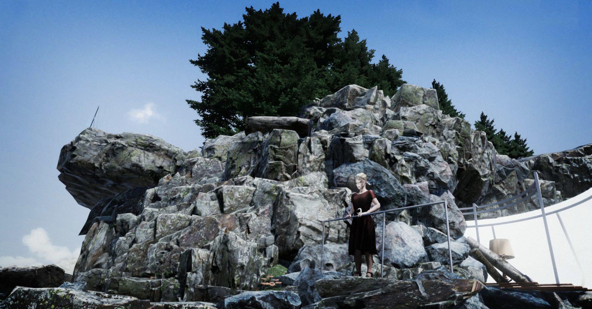Still foto uit 'Eight', virtual reality opera van Michel van der Aa