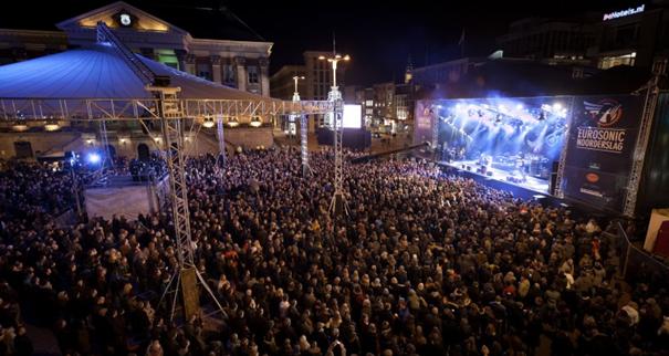 Foto publiek bij concert Eurosonic Noorderslag